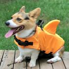 Pet Dog Life Jacket W/ Shark Fin Safety Life Vest Pet Summer Swimming Clothes US