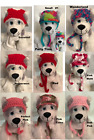 Dog Hat Cat Pet Hat Handmade Crochet New SMALL Multi-ColorsRed  Pink's