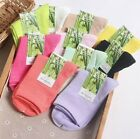 5-10 Pack Women Bamboo Socks Casual Sport Multicolor Warm Classic Crew Breathe