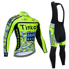 Ropa de ciclismo Tinkoff Invierno termica thermal manga larga cycling winter