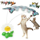 Pet Cat Kitten Play Toy Electric Rotating Butterfly Steel Wire Cat Teaser Toys