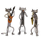 Cats Figurines Crafts Handmade Metal Sculpture Collection Iron Home Decor