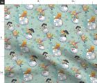 Little Adventure Blue Small Scale Child Boy Light Spoonflower Fabric by the Yard