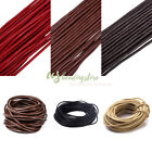 10m 3mm Genuine Cowhide Leather Cords Macrame Beading Craft Threads String Rope