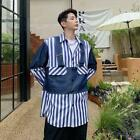 Fashion Men's New Design Long Sleeve T-shirt Youth Stripe splicing Tops Shirt