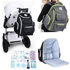 Hanging Baby Diaper Nappy Bag Mummy Backpack Rucksack Stroller Storage