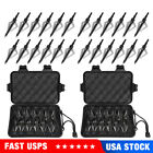 24 Pack 3 Fixed Blade Archery Hunting Broadheads 100 Grain with Case Arrow Head