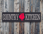 Country Kitchen Metal Sign Farmhouse Primitive Wall Art Decor Aluminum Sign Gift