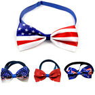 Pet Dog Cat Collar Necktie Bow Tie US Independence Day Bowknot Pet Accessories