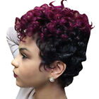 Women Afro Short Straight/Wavy Curly Hair Ladies Party African Natural Full Wigs