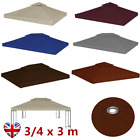 2-Tier Gazebo Top Cover 310 g/m² 3/4 m Fabric PVC Replacement Canopy Tent Awning