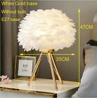 New FEATHER LED Table Lamp Light Romantic Home Decor Night Desk Bed Side Modern