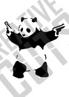 Banksy Style Panda A4 A3 A2 air brush, restoration, mylar reusable stencil paint