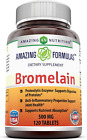 Amazing Nutrition Bromelain Proteolytic Digestive Enzymes Supplements, 500 mg, 1