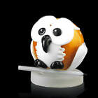 Murano Glass Original Owl with Base Round Made Ìn Italy Made by Hand