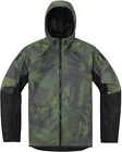 Icon Airform Battlescar Hooded Motorcycle Jacket GREEN CAMO
