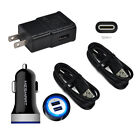USB Car&Wall Plug Charger Type C Cable Fast For Motorola Moto Z2 Play G8 g7 Z4