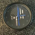 """Police Support Punisher 9"""" Wall Clock"""
