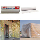 Clear 6 mil Plastic Sheeting 20 x 50 ft Extra Heavy Duty Coverall Roll