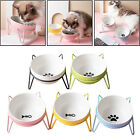Ceramic Pet Elevated Bowls Raised Bowl w/ Stand For Small Medium Large Cat