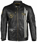 Cortech The Trans-Am Leather Motorcycle Jacket CLASSIC BLACK