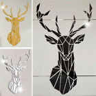 3d Deer Mirror Wall Stickers Acrylic Sticker Large Home Door Removable Art Decor