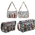 Ladies Fashion Butterfly Messenger Bag Cross Body Tote Canvas Travel Satchel