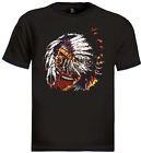 Indian Chief T-Shirt native american feathers vintage