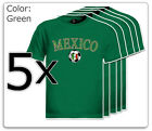 5 Mexico Soccer T-Shirt lot New Tee Africa Mexican Flag