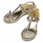 New Gold Casual Flats Womens Sexy Sandals Shoes