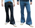 Mens Denim FLARES Bell Bottoms Jeans Pants Hippy indie Mod flared vtg 60's 70's