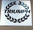 1 TRIUMPH LAUREL LEAF CAR BIKE STICKER DECAL DIE CUT s1