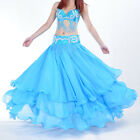 NWT Belly Dance Costume Three Layers Performances Skirt/Dress (no belt) 13 color