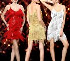Ladies Evening Formal Party Cocktail Night Dance Club Sequin Latin Dress 381