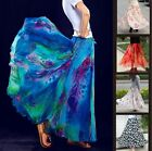 "Full Circle Chiffon Long Maxi Skirt 35"" Length 6 8 10 12 14 16 18 20 22 24 26"
