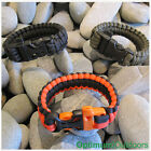 Pre made 550 paracord survival bracelet with whistle UK