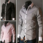 Mens Casual Slim  Luxury Stylish Dress Shirt  4size  5 Colors E1003 M L XL XXL