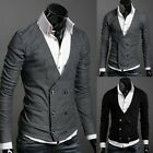 NEW Men Premium Stylish V-NECK Double Breasted Cardigan  E180 2color 3Size