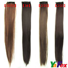 23 Inch New clip in hair extensions long straight Clip on extensions 4colors