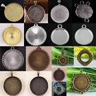 Flower Smooth Round Charms Photo Picture Frame Bead Silvery Golden Bronze Copper