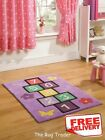 Kiddy Play Lilac Hopscotch Rug in Two Sizes