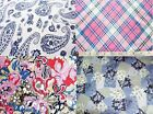 FINE WEAVE LIGHT LINEN VISCOSE DRESS SKIRT FABRICS various COLORS & RETRO PRINTS