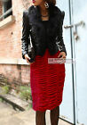 "Fashion Pencil Velvet Skirt Straight Skirt Length 24"" / 60cm #GF0653"