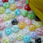 Mixed Chrysanthe​mum Flower 13mm Plastic Buttons Sewing Scrapbooking Craft JFB