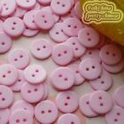 14mm Pink Flat Round Buttons Sewing Scrapbooking Cardmaking Craft