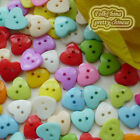 Assorted Heart 17mm Plastic Buttons Sewing Scrapbooking Cardmaking Craft