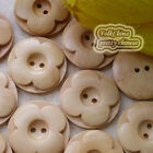 Natural Flower 2 Holes 30mm Wood Buttons Sewing Scrapbooking Craft C041