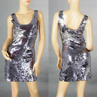 Sexy Ladies Cocktail&Evening Club Party Shine Sequin Bridesmaid Dress S M 138