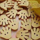 Hand 17mm Wood Buttons Sewing Scrapbooking Craft NCB019