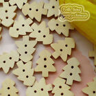 Tree 13mm Wood Buttons Sewing Scrapbooking Craft NCB032